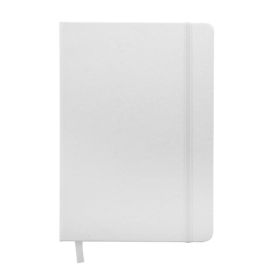 Picture of Notebook Clean Note, A5, antibacterial, with elastic strap, white