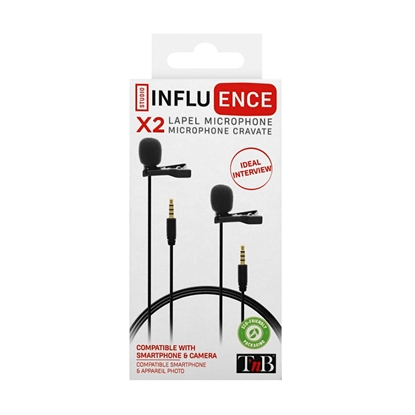 Picture of TNB Microphone set Influence, 3.5 mm jack, 2 pcs.