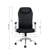 Picture of RFG Crono HB Director s Chair, eco-leather, black