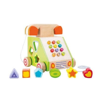 Picture of Small Foot Telephone, for children, with sorting elements, wooden, 19 х 18 х 19 cm