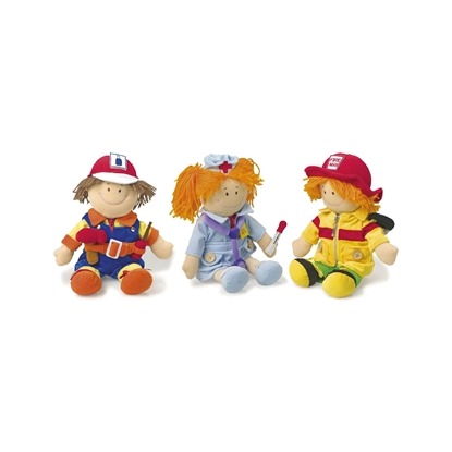 Picture of Small Foot Doll set, professions, 3 pcs.