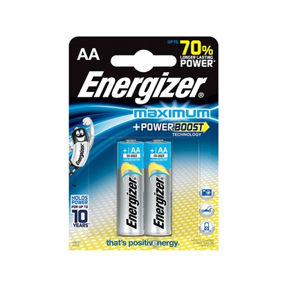 Picture of Energizer Alkaline battery Maximum, AA, 1.5 V, 2 pcs.
