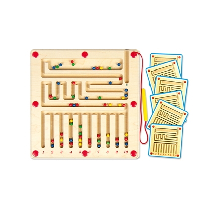 Picture of Nowa Szkola Board maze, magnetic, with numbers, 29.5 x 29.5 cm
