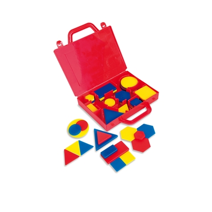Picture of Nowa Szkola Set of geometric shapes, in a case, 60 pcs.