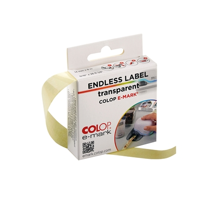 Picture of Colop Endless labels E-Mark, width 14 mm, length 8 m, transparent