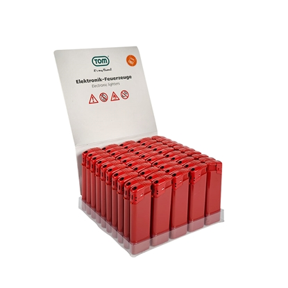 Picture of Tom Cigarette lighter EB-15 plastic, red, 50 pcs.