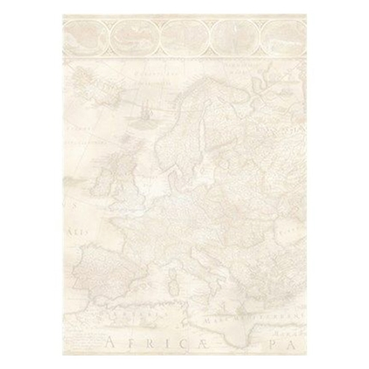 Picture of Decadry Design paper DSC 685 Map, A4, 90 g/m2, 25 sheets