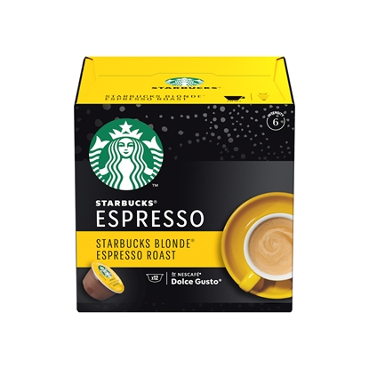 Снимка на Nescafé Кафе-капсула DG Starbucks, Blonde Espresso Roast, 12 броя
