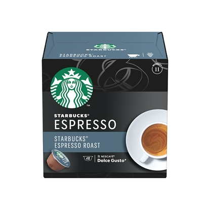 Снимка на Nescafé Кафе-капсула DG Starbucks, Dark Espresso Roast, 12 броя