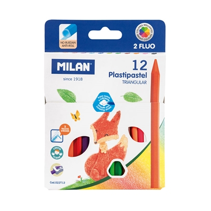 Picture of Milan Pastels Triangular, 12 colours