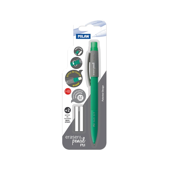 Picture of Milan Mechanical pencil PL1, 0.7 mm, with 2 erasers, in a blister pack, package of 24
