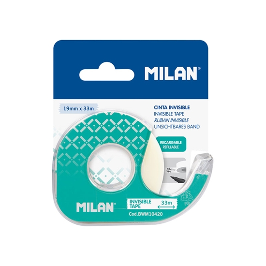 Picture of Milan Self-adhesive tape, 19 mm x 33 m, invisible, with a dispenser, 12 pcs.