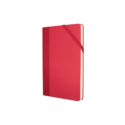 Picture of Milan Notebook Colours, A5, with elastic band, 80 g, 104 sheets, red, 5 pcs.