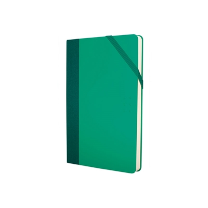 Picture of Milan Notebook Colours, A5, with elastic band, 80 g, 104 sheets, green, 5 pcs.