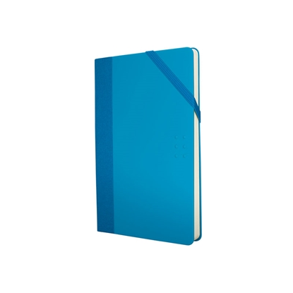 Picture of Milan Notebook Colours, A5, with elastic band, 80 g, 104 sheets, blue, 5 pcs.