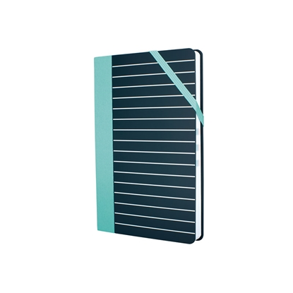 Picture of Milan Notebook Stripes, A5, with elastic band, graph paper, 80 g, 104 sheets, 5 pcs.
