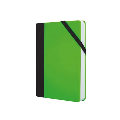 Picture of Milan Notebook Flou, dotted paper, with elastic band, small, 80 g, 104 sheets, green, 7 pcs.