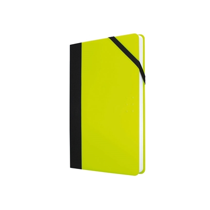 Picture of Milan Notebook Flash, A5, wide ruled, with elastic band, 104 sheets, yellow, 5 pcs.