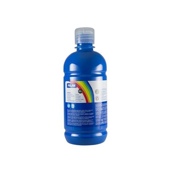 Picture of Milan Poster paint, in a bottle, cyan blue, 500 ml, 6 pcs.