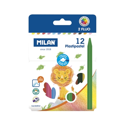 Picture of Milan Pastels, round, 12 colours, package of 20
