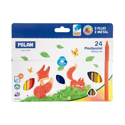 Picture of Milan Pastels Triangular, 24 colours, package of 12