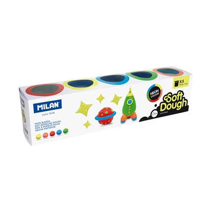 Picture of Milan Soft Dough, 142 g, 5 colours, package of 6