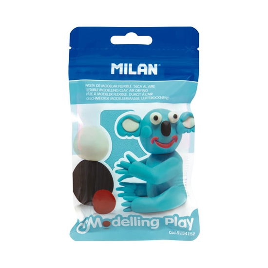 Picture of Milan Clay Modelling Play, 100 g, light blue, package of 12