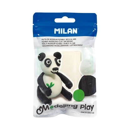 Picture of Milan Clay Modelling Play, 100 g, white, package of 12