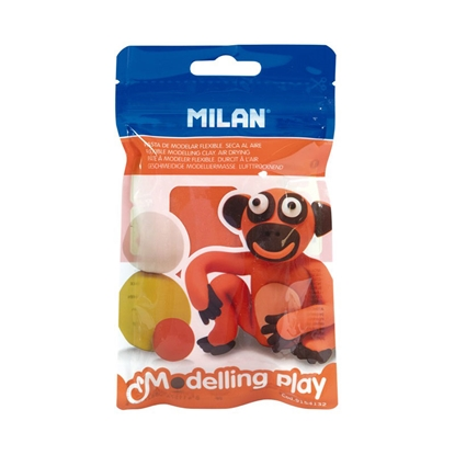 Picture of Milan Clay Modelling Play, 100 g, orange, package of 12