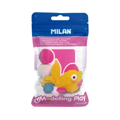 Picture of Milan Clay Modelling Play, 100 g, pink, package of 12