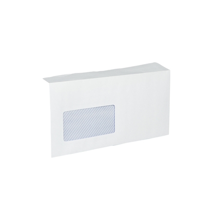 Picture of Office 1 Superstore Mailing Envelope, DL, 110 x 220 mm, paper, with left window, peel & seal, white, 100 pcs.