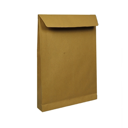Picture of Office 1 Superstore Mailing Envelope, E4, 280 x 400 mm, paper, expandable, peel & seal, brown, 10 pcs.